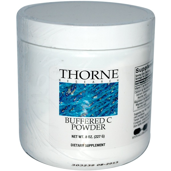 Thorne Research, 緩衝維生素C粉,8盎司(227克)