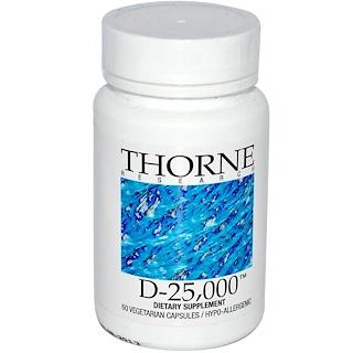 Thorne Research, D-25,000, 60 Vegetarian Capsules
