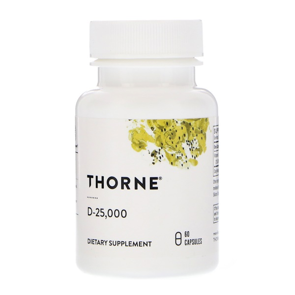 Thorne Research, D-25,000, 60 cápsulas (Discontinued Item)