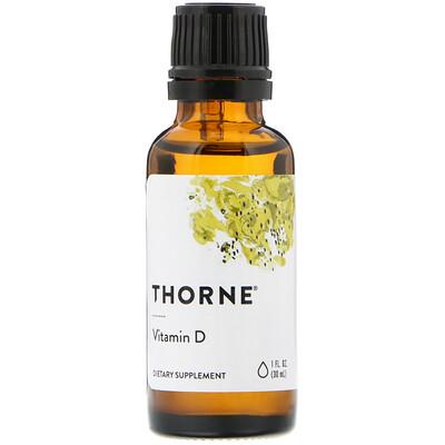 Купить Thorne Research Витамин D, 1 жидкая унция (30 мл)