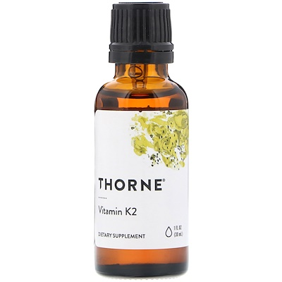 Купить Thorne Research Витамин К2, 1 жидкая унция (30 мл)