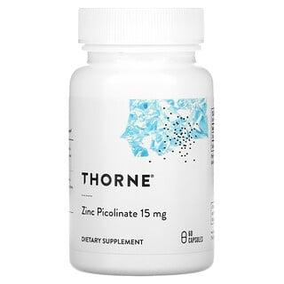 Thorne Research, Zinc Picolinato, 15 mg, 60 cápsulas