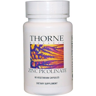 Thorne Research, Zinc Picolinate 15 mg, 60 Vegetarian Capsules