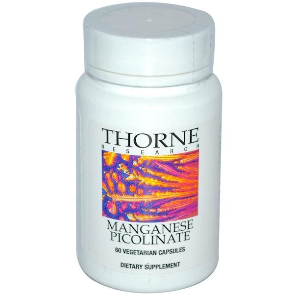 Thorne Research, Manganese Picolinate, 60 Veggie Caps (Discontinued Item)