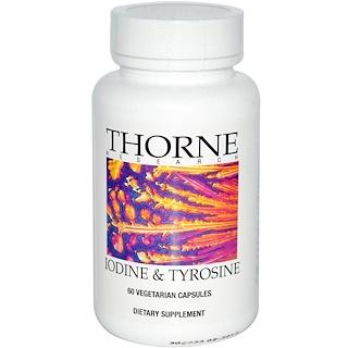 Thorne Research, Iodine & Tyrosine, 60 Vegetarian Capsules