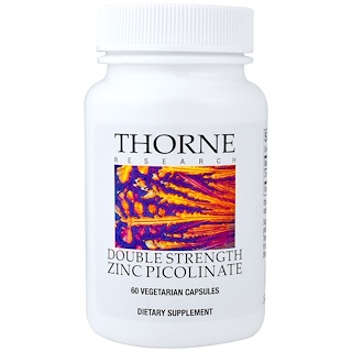 Thorne Research, Double Strength Zinc Picolinate 30 mg, 60 Vegetarian Capsules