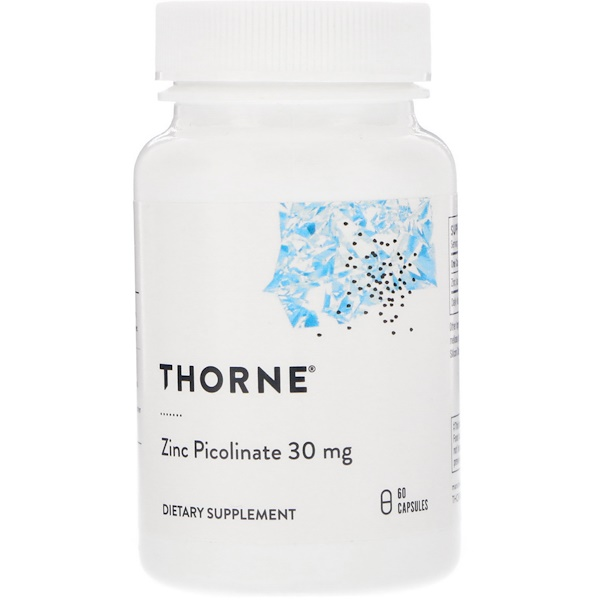 Thorne Research, Zinc Picolinate, 30 mg, 60 Capsules