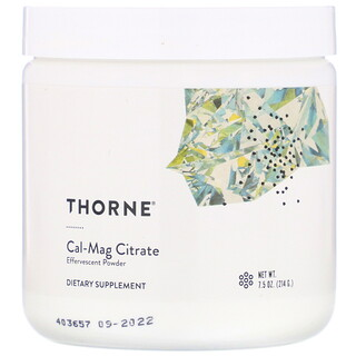 Thorne Research, Cal-Mag Citrate, Effervescent Powder, 7.5 oz (214 g)