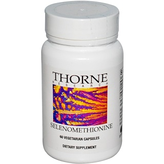Thorne Research, Selenomethionine, 60 Vegetarian Capsules