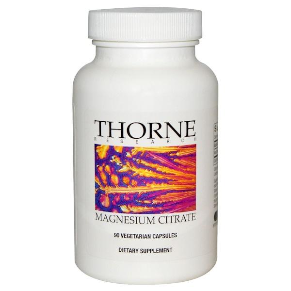 Thorne Research, Magnesium Citrate, 90 Vegetarian Capsules