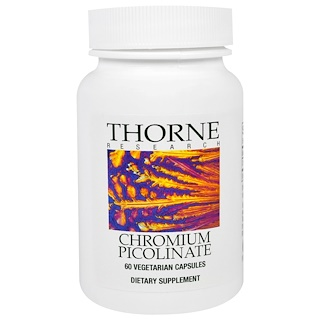 Thorne Research, Chromium Picolinate, 60 Vegetarian Capsules