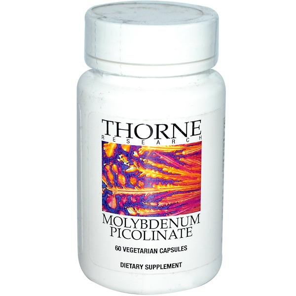 Thorne Research, Molybdenum Picolinate, 60 Veggie Caps (Discontinued Item)