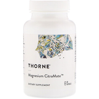 Thorne Research, Magnesium Citramate, 90 капсул