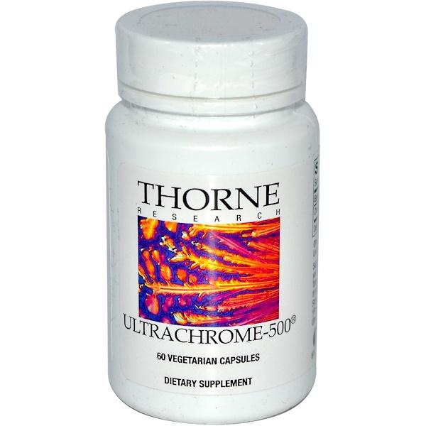 Thorne Research, ウルトラクロム -500、60ベジカプセル (Discontinued Item)