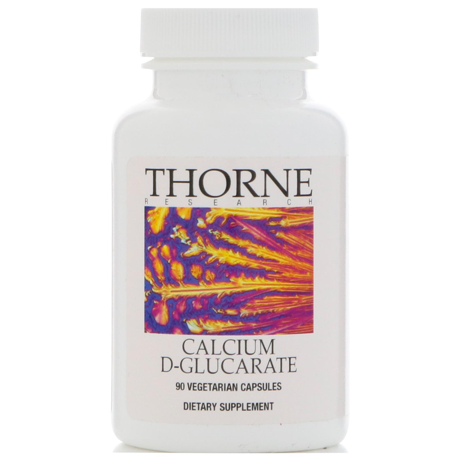 Thorne Research, Calcium D-Glucarate, 90 Vegetarian Capsules