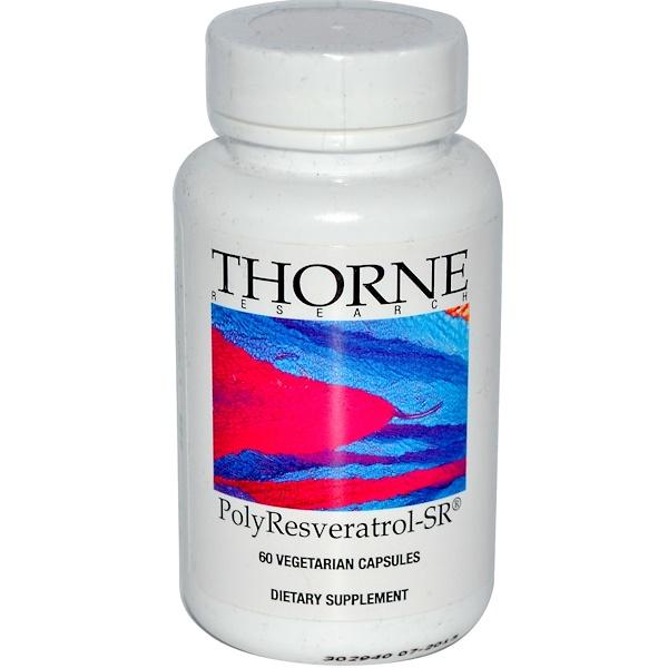 Thorne Research, PolyResveratrol-SR, 60 cápsulas vegetales