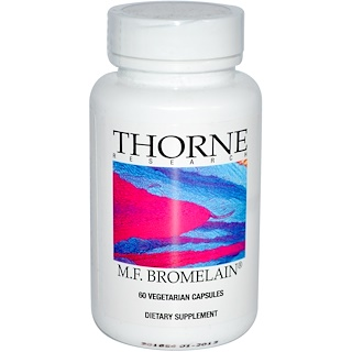Thorne Research, M.F. Bromelain, 60 Vegetarian Capsules