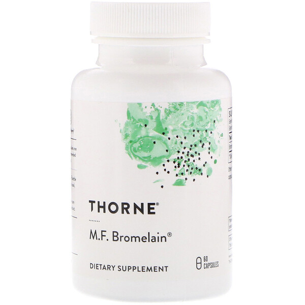 Thorne Research, M.F. Bromelain, 60 Cápsulas Vegetales