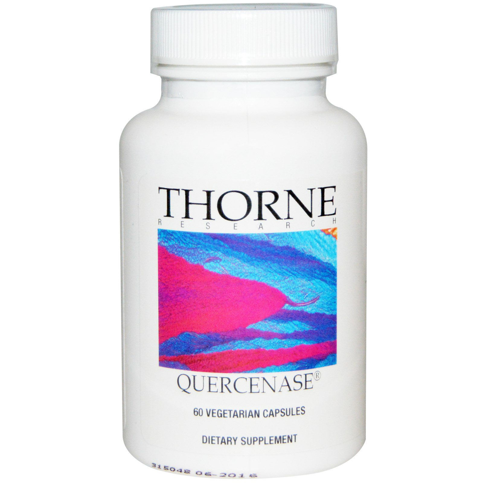 Thorne Research, Quercenase, 60 капсул