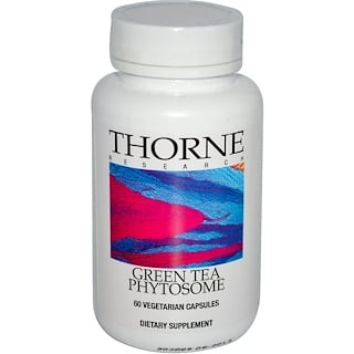 Thorne Research, Green Tea Phytosome, 60 Vegetarian Capsules