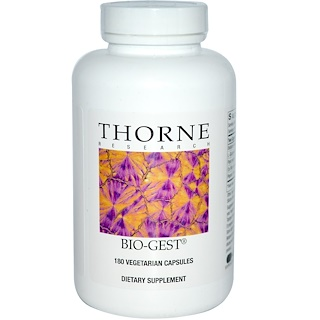 Thorne Research, Bio-Gest, 180 Vegetarian Capsules