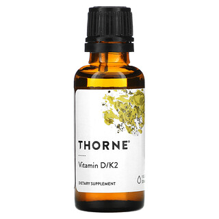 Thorne Research, Vitamin D/K2, 25mcg (1.000IU), 30ml (1fl. oz.)
