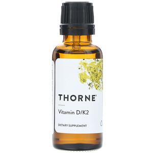 Торн Ресерч, Vitamin D/K2, 25 mcg (1,000 IU), 1 fl oz (30 ml) отзывы покупателей