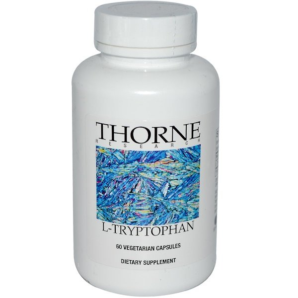 Thorne Research, L-Tryptophan, 60 Vegetarian Capsules (Discontinued Item)
