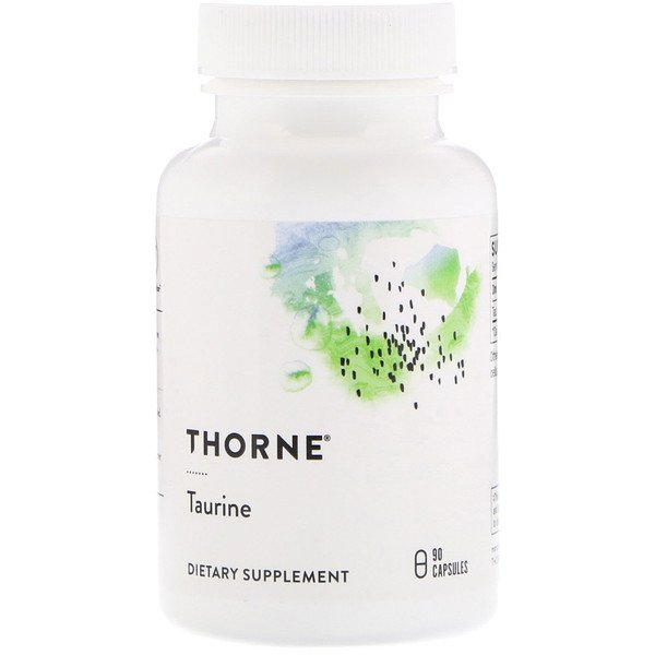 Thorne Research, Taurine, 90 Cápsulas Vegetales