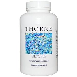 Thorne Research, Глицин, 250 капсул на растительной основе
