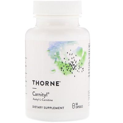 Купить Thorne Research Carnityl, ацетил-L-карнитин, 60 капсул