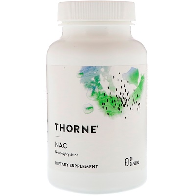 Thorne Research N-ацетилцистеин, 90капсул