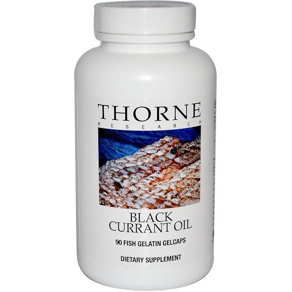 Thorne Research, Black Currant Oil, 90 Fish Gelatin Gelcaps (Discontinued Item)