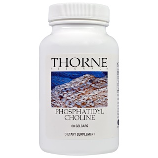 Thorne Research, Phosphatidyl Choline, 60 Gelcaps