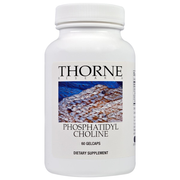 Thorne Research, Fosfatidil Colina, 60 cápsulas de gel