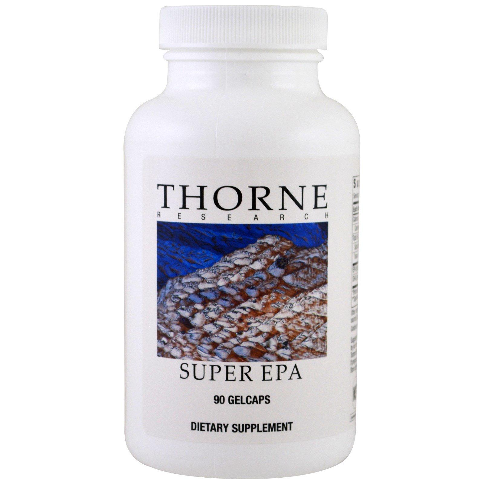 Thorne Research, Супер EPA (эйкозапентаеновая кислота), 90 жидких капсул