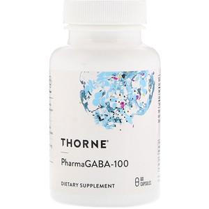 Торн Ресерч, PharmaGABA-100, 60 Capsules отзывы покупателей