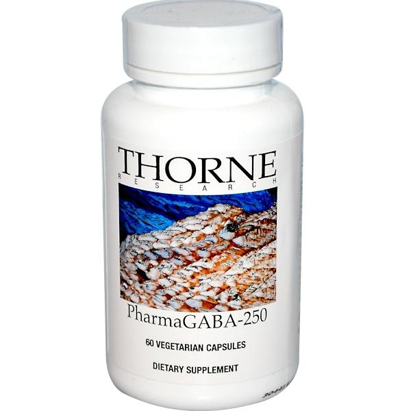 Thorne Research, PharmaGABA-250, 60 Vegetarian Capsules