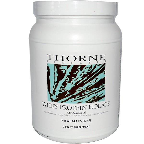 Thorne Research, Whey Protein Isolate, Chocolate, 14.4 oz (408 g) (Discontinued Item)