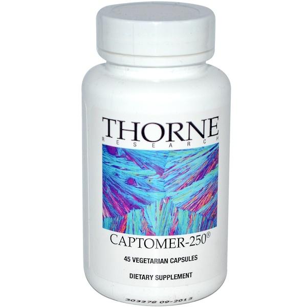 Thorne Research, Captomer-250, 45 Veggie Caps (Discontinued Item)