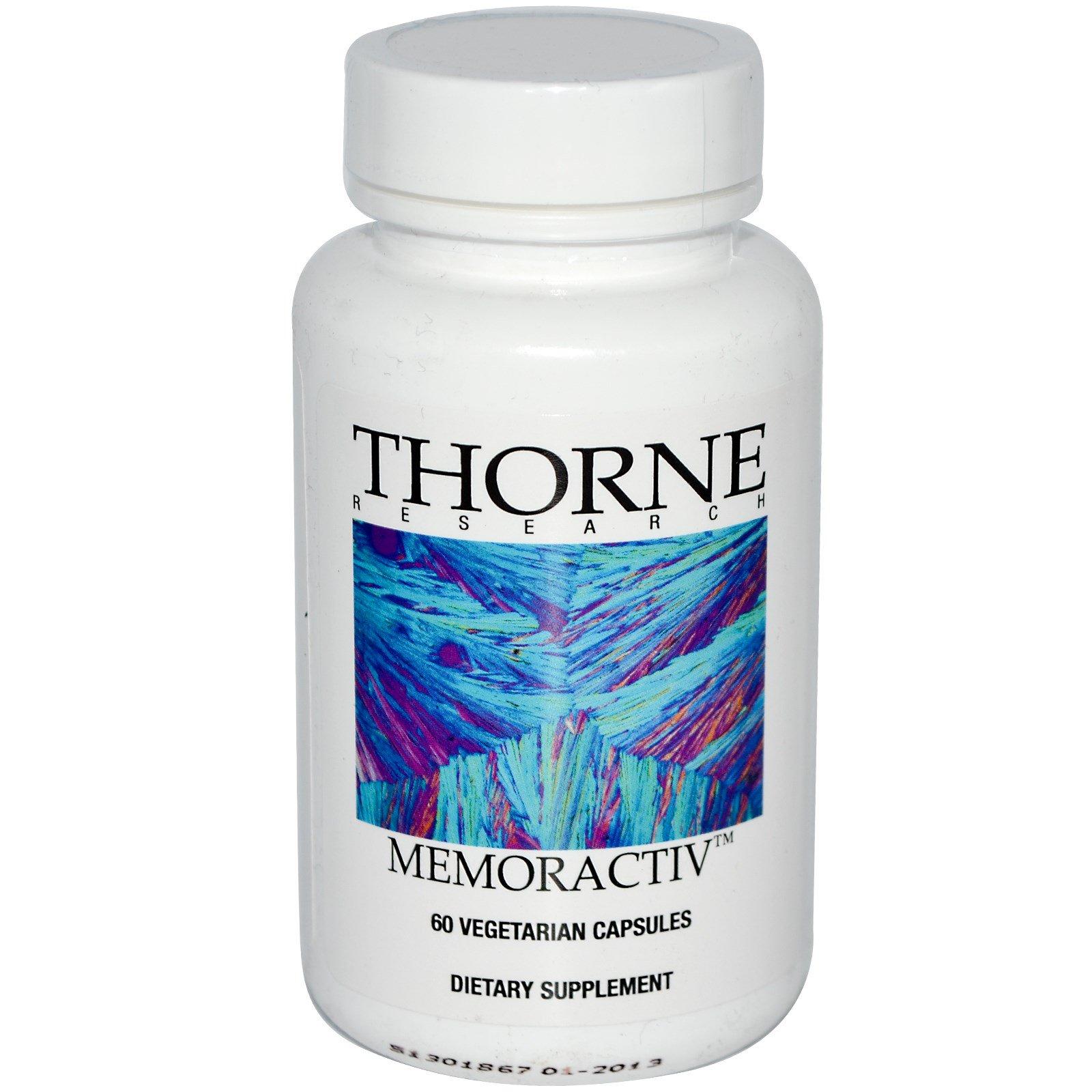 Thorne Research, Memoractiv, 60 растительных капсул