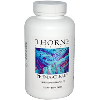Thorne Research, Perma-Clear, 180 Vegetarian Capsules
