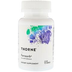Thorne Research, Ferrasorb, 60 Capsules