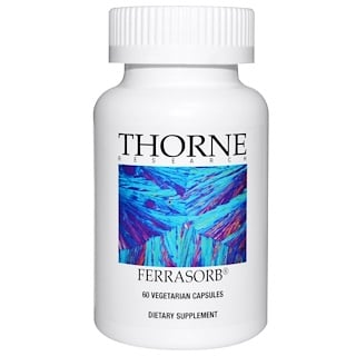 Thorne Research, Ferrasorb, 60 베지캡