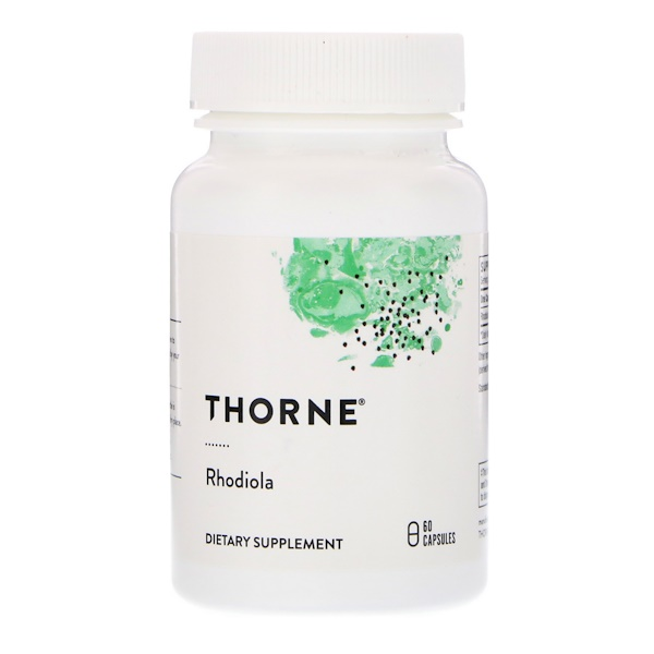 Thorne Research, Rhodiola, 60 Capsules