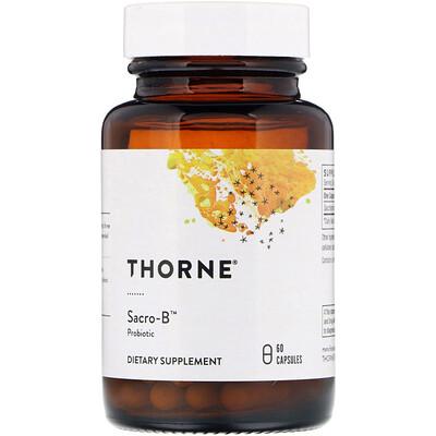 Купить Thorne Research Sacro-B, пробиотик, 60 капсул