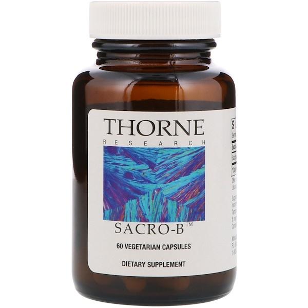 Thorne Research, Sacro-B, 60 Vegetarian Capsules