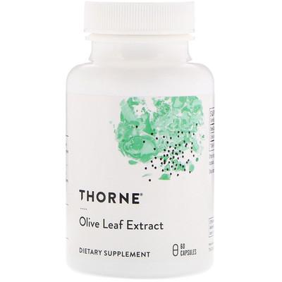 Купить Thorne Research Экстракт листьев оливкового дерева, 60 капсул
