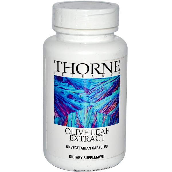 Thorne Research, Olive Leaf Extract, 60 Vegetarian Capsules