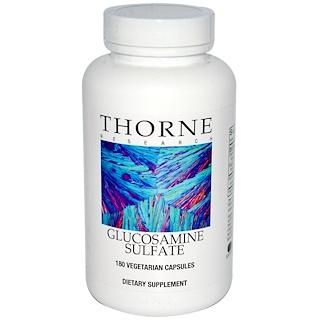 Thorne Research, 글루코사민 황산염, 180 베지 캡
